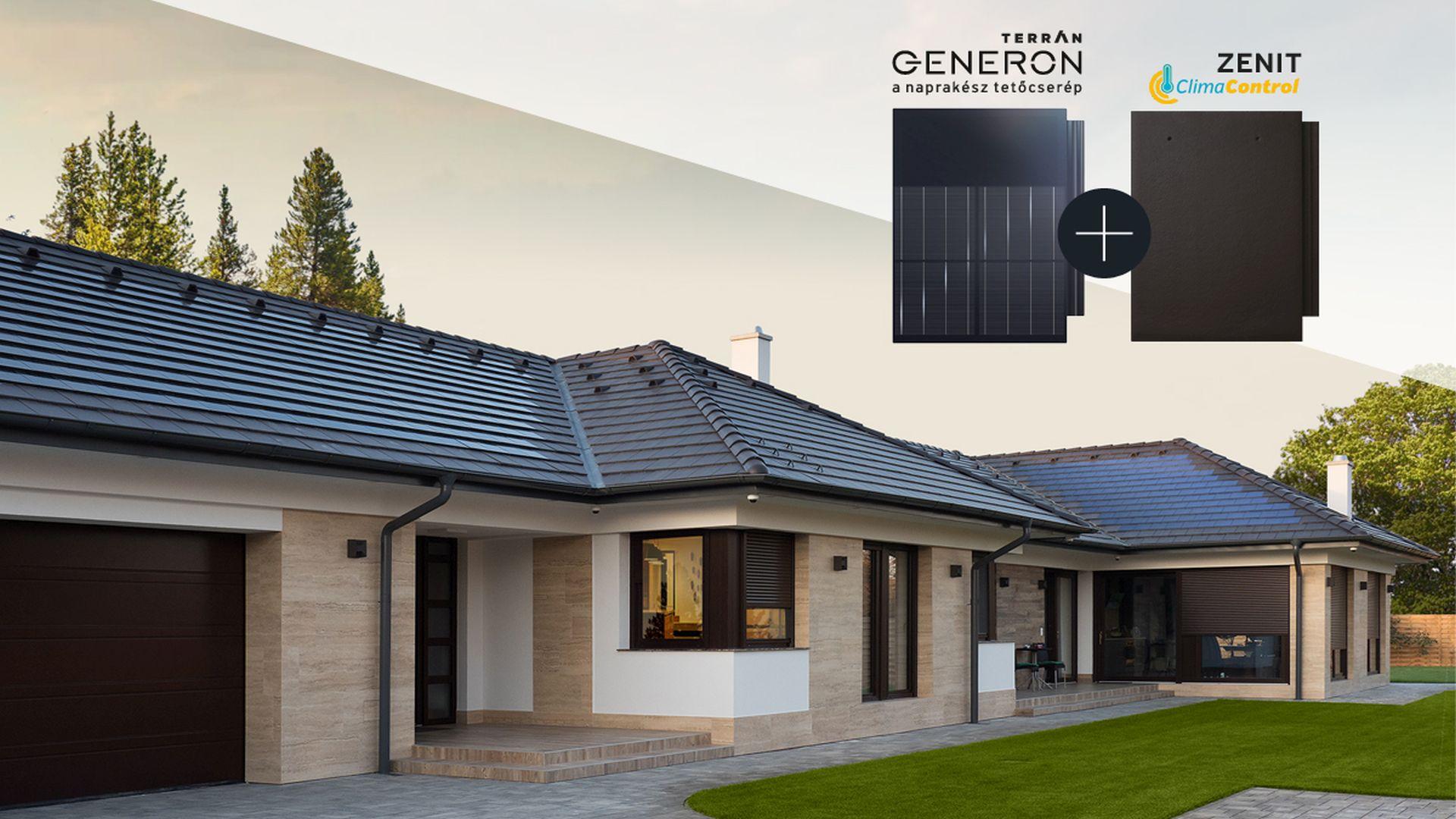 Letisztult, modern, napelemes tetőcserép